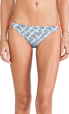 Basta Surf Zunzal Bungee Bikini Bottom in Graphic Flower Print & Ivory