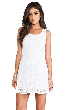 Jack By BB Dakota Jerebele Eyelet Mini Dress in White