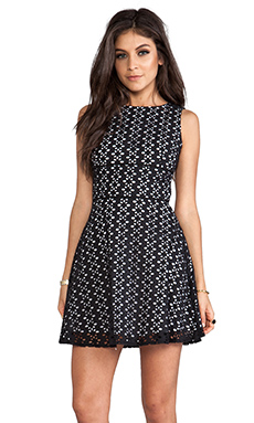 BB Dakota Dixon Eyelet Dress in Black & White