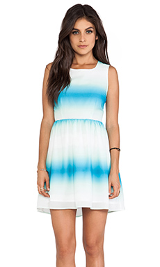 Jack by BB Dakota Celerina Horizon Printed Tank Dress in Menthly Blue