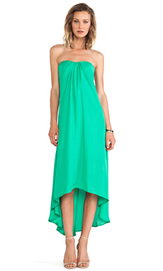 BB Dakota Savi Hi-Lo Dress in Emerald