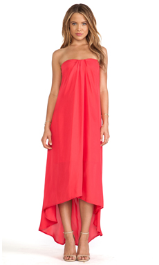 BB Dakota Savi Hi-Lo Dress in Red