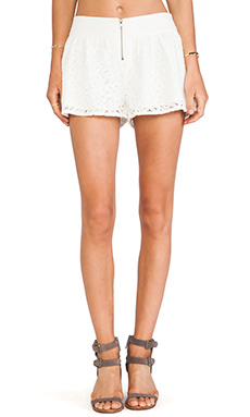 Jack By BB Dakota Amiri Crochet Lace Shorts in Ivory