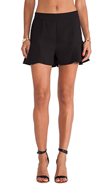 Jack By BB Dakota Dewey Ruffel Short in Black