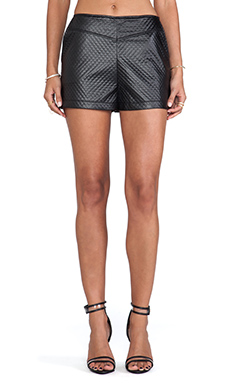Jack by BB Dakota Hanson Faux Leather Short in Black