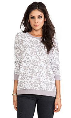 Jack By BB Dakota Cirila Rose Jacquard Pullover in Storm Grey