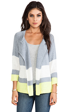 Jack By BB Dakota Idra Striped Cardigan in Heather Grey