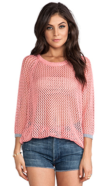 Jack by BB Dakota Jeslyn Pullover Sweater in Salmon Rose & Heather Grey