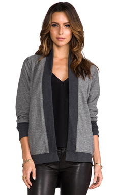 Jack by BB Dakota Daron Diamond Jacquard Wrap in Dark Heather Grey