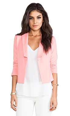 Jack By BB Dakota Kreeli Ponte Blazer in Salmon Rose