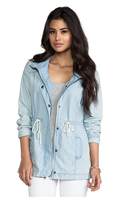 Jack by BB Dakota Bregan Chambray Jacket in Light Blue