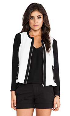 BB Dakota Lahan Jacket in Dirty White & Black