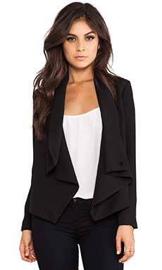 BB Dakota Bertilla Drapey Jacket en Noir