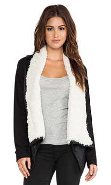 Jack by BB Dakota Henderson Jacket with Faux Shearling in Black