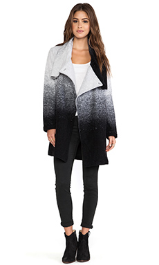 BB Dakota Danton Ombre Coat in Black