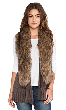 BB Dakota Lida Sweater Vest in Tobacco