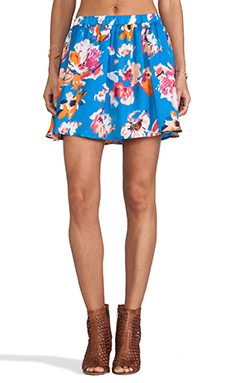 Jack by BB Dakota Camisha Floral Mini Skirt in Methly Blue