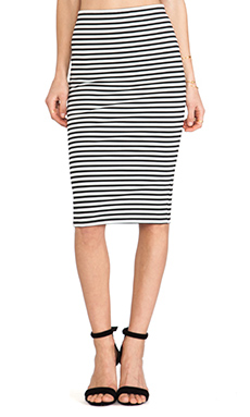 Jack by BB Dakota Cayleen Striped Pencil Skirt in Black & White