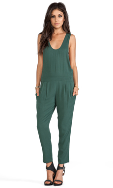 BB Dakota Ray Woven Overalls in Army Green
