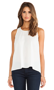 Jack By BB Dakota Barrow Pleated Tank in Linen
