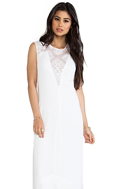 BCBGMAXAZRIA Denisa Dress en Blanc