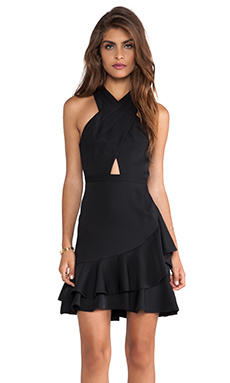 BCBGMAXAZRIA Cut Out Dress in Black Combo