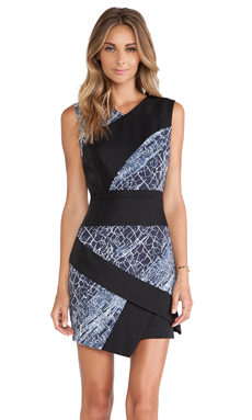 BCBGMAXAZRIA Dalia Dress in Classic Blue Combo