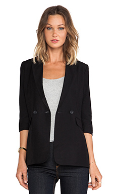 BCBGeneration 3/4 Sleeve Blazer in Black