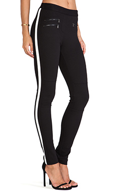 BCBGMAXAZRIA Theo Zipper Detail Pants in Black
