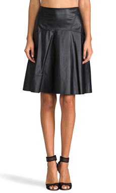 BCBGMAXAZRIA Flared Skirt in Black