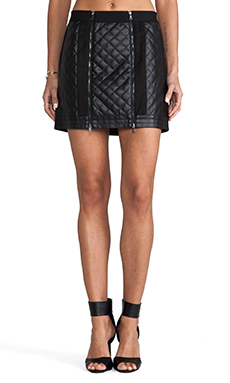 BCBGMAXAZRIA Mini Zip Skirt in Black