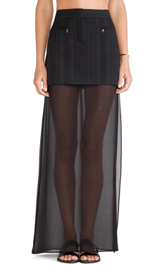 BCBGMAXAZRIA Kendahl Maxi Skirt in Black