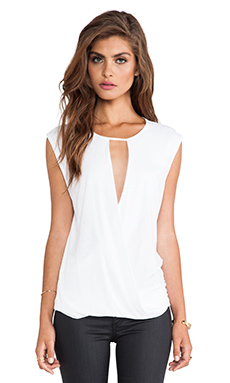 BCBGMAXAZRIA Alessandra Top in White