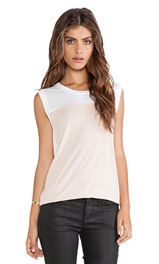 BCBGMAXAZRIA Allison Tank in White Combo