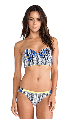 BCBGMAXAZRIA Urban Contrast Underwire Push Up Bikini Top in Black