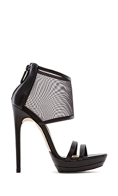 BCBGMAXAZRIA Ferned Mesh Pumps in Black