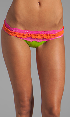 Beach Bunny Lady Lace Bottom in Lime