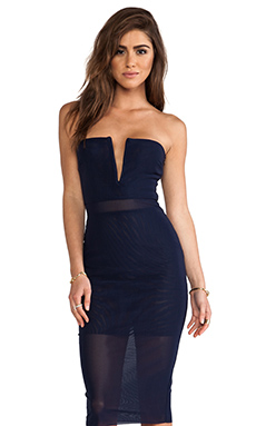 BEC&BRIDGE Nefertiti Strapless Dress in Ink