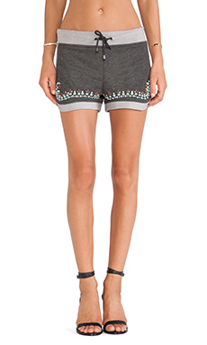 Benedita Crystal Sweatshort in Dark Grey