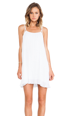 BCBGeneration Flirty Tank Dress in White
