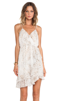 BCBGeneration Ruffled Cross Back Dress in Glow Multi