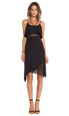 BCBGeneration Asymmetric Hem Tank Dress in Black