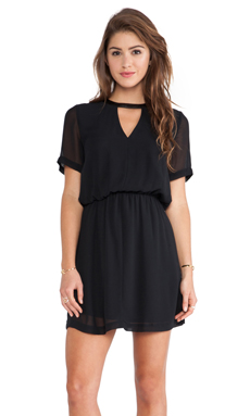 BCBGeneration Cut Out Neckline Dress in Black