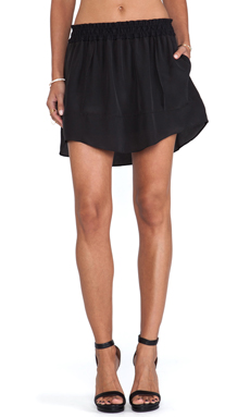 BCBGeneration Shirred Skirt in Black