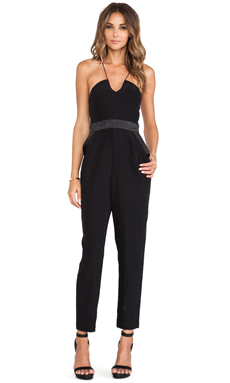 BCBGeneration Strapless Jumpsuit in Black