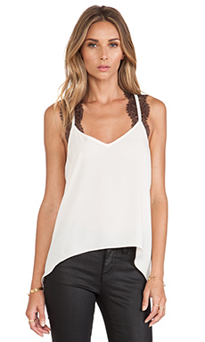 BCBGeneration Lace Trim Tank in Soft Pink