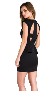 Black Halo Dobrev Mini Dress in Black