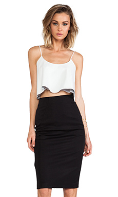 Black Halo Genevieve 2 Piece Dress in Rope White & Black