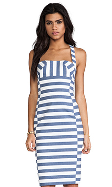 Black Halo Bryson Dress in Nautical Stripe