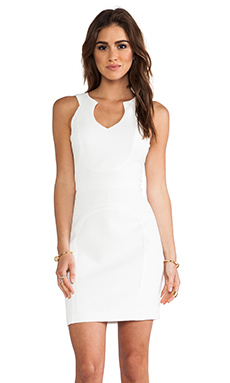 Black Halo McGowen Mini Dress in Natural White
